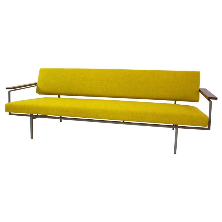 Mid-Century Modern Rob Parry Sofa 3-Seat Model Lotus 75 in Yellow, 1960s For Sale