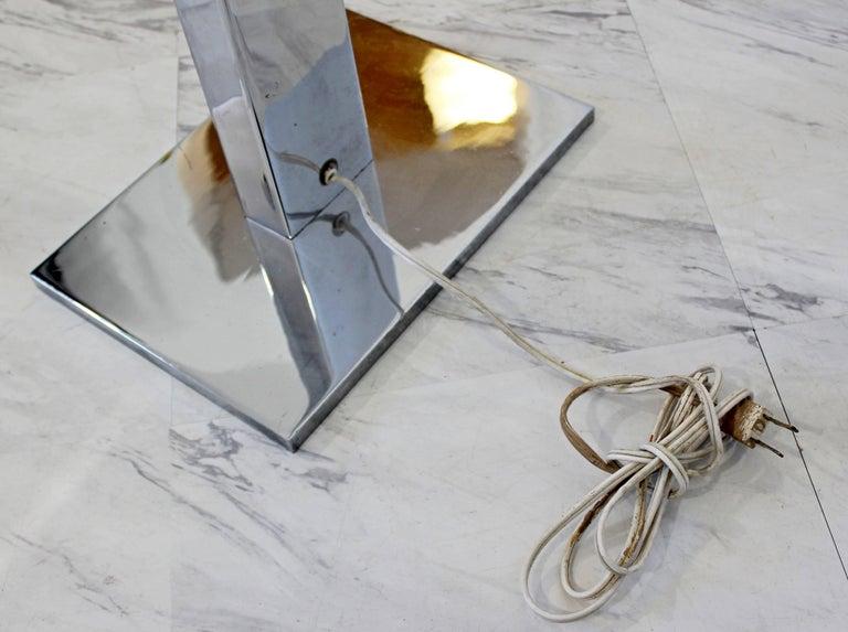 Mid-Century Modern Robert Sonneman Polished Chrome Steel Standing Floor Lamp For Sale 4