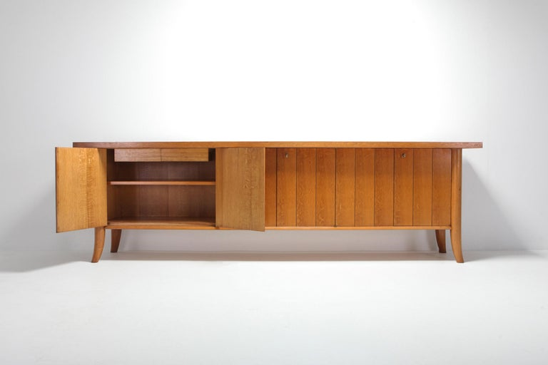 20th Century Mid-Century Modern Robsjohn Gibbings Japanese Oak Credenza For Sale