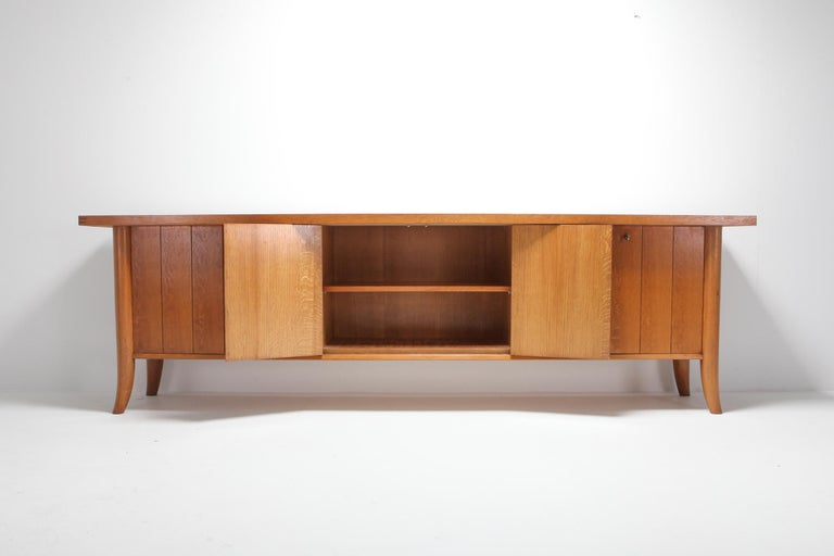 Laminate Mid-Century Modern Robsjohn Gibbings Japanese Oak Credenza For Sale