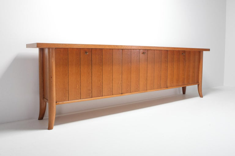 Mid-Century Modern Robsjohn Gibbings Japanese Oak Credenza For Sale 1
