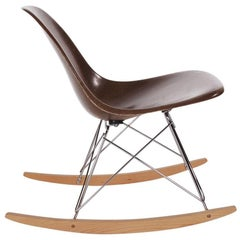 Mid-Century Modern Rocking Chair by Charles Eames for Herman Miller in Chocolate