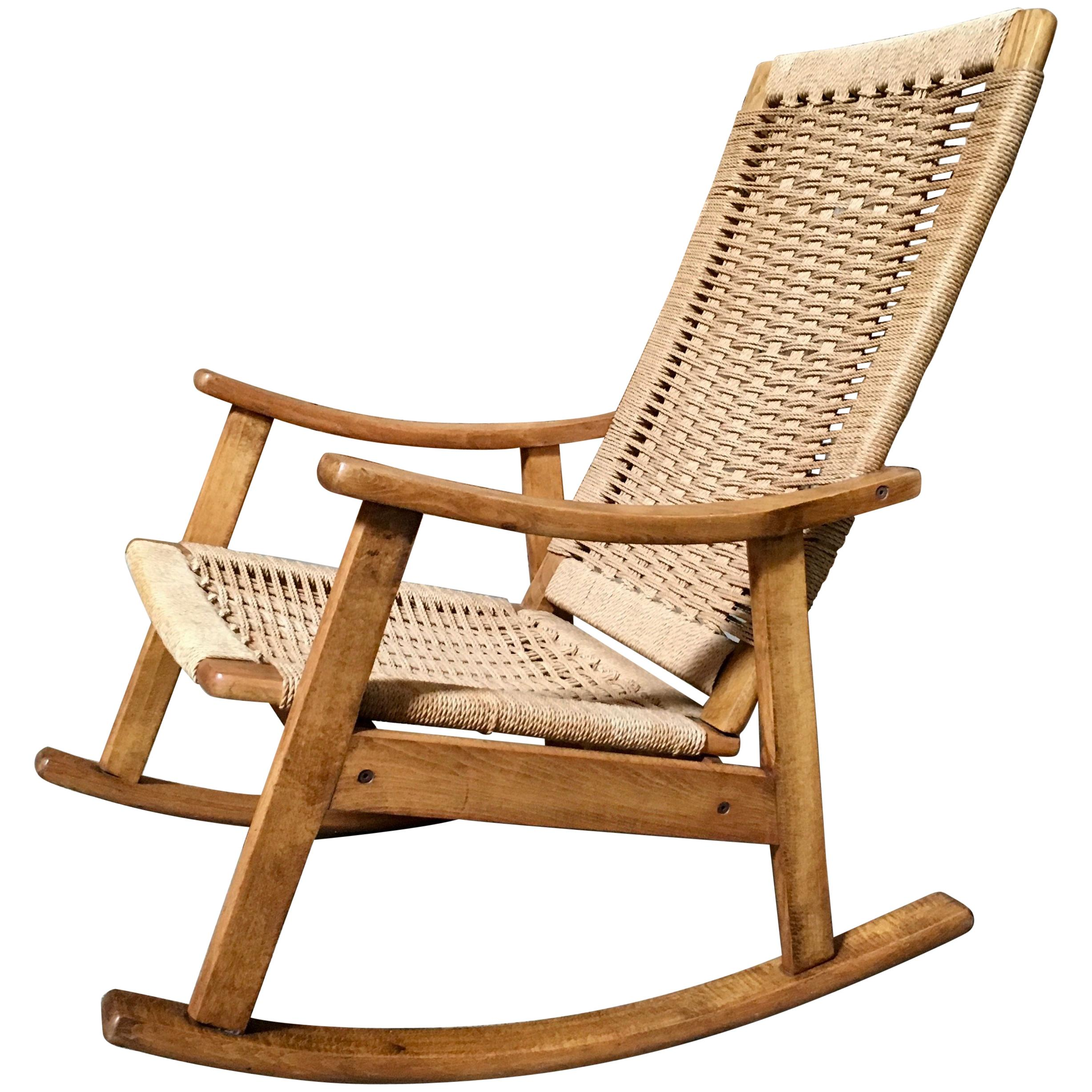 Mid Century Modern Rocking Chair For Sale