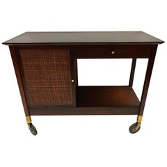 Mid-Century Modern Rolling Bar Cart Barcart Rolling Service Cabinet