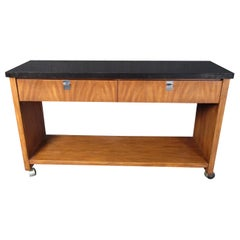 Mid-Century Modern Rolling Console Table by J.B. Van Sciver