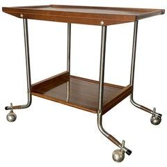Mid-Century Modern Rolling Tea or Bar Cart