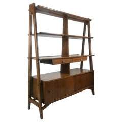 Mid-Century Modern Room Divider Bookshelf Credenza American Martinsville Dania