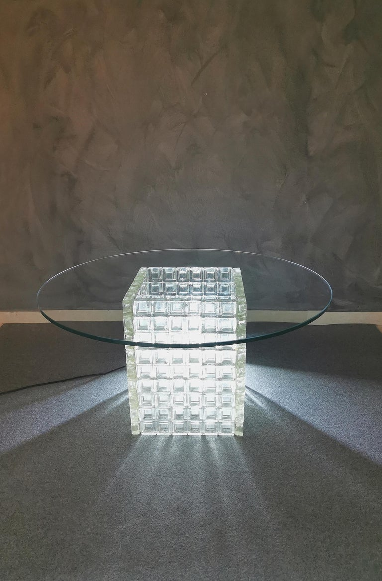 Mid Century Coffee Table Murano Glass by Albano Poli for Poliarte Italy 1970s  For Sale 4