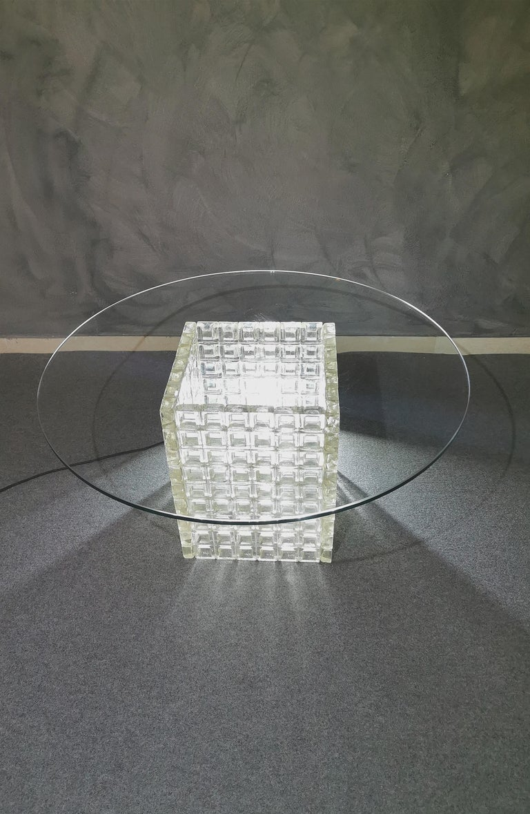 Mid Century Coffee Table Murano Glass by Albano Poli for Poliarte Italy 1970s  For Sale 5