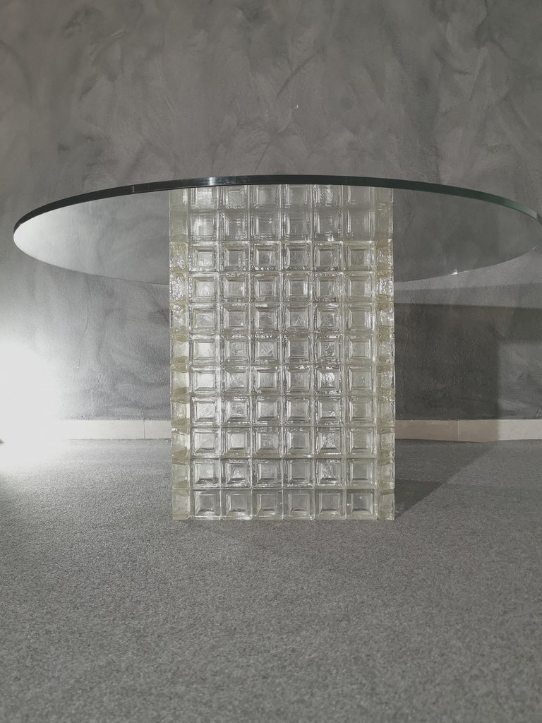 Mid Century Coffee Table Murano Glass by Albano Poli for Poliarte Italy 1970s  For Sale 6