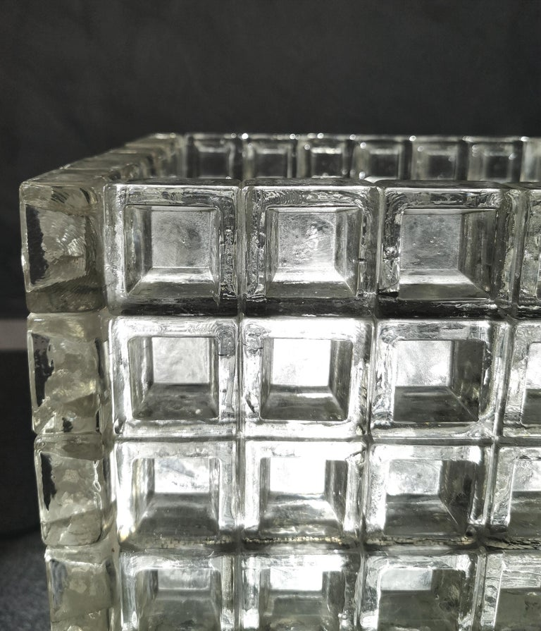 Italian Mid Century Coffee Table Murano Glass by Albano Poli for Poliarte Italy 1970s  For Sale