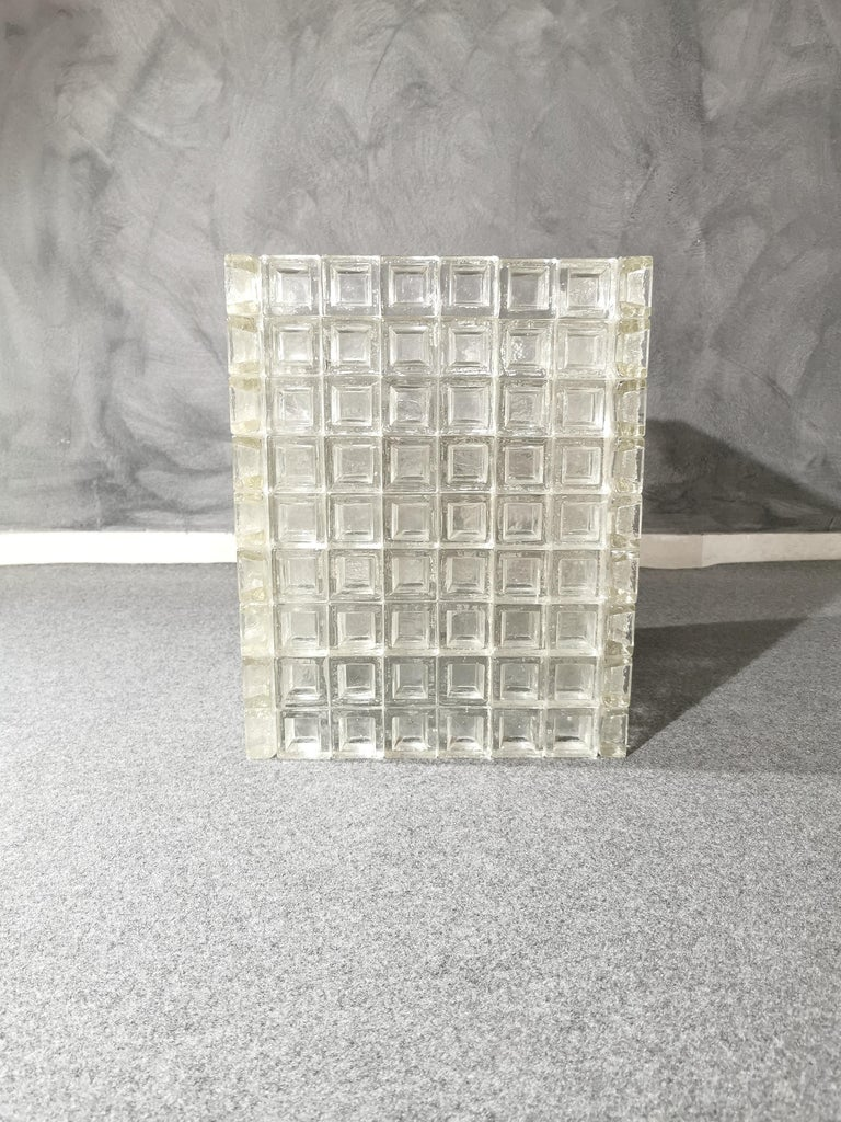 Mid Century Coffee Table Murano Glass by Albano Poli for Poliarte Italy 1970s  In Good Condition For Sale In Palermo, IT