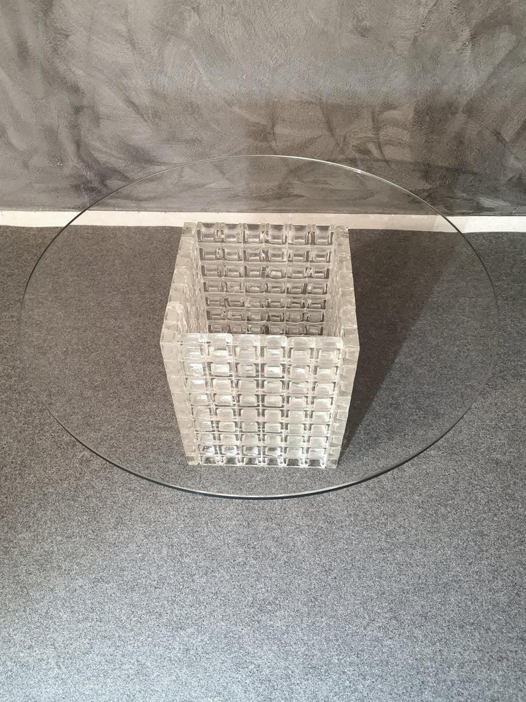 Mid Century Coffee Table Murano Glass by Albano Poli for Poliarte Italy 1970s  For Sale 3