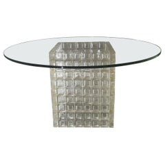 Mid-Century Coffee Table in Murano Glass by Albano Poli for Poliarte, 1970s