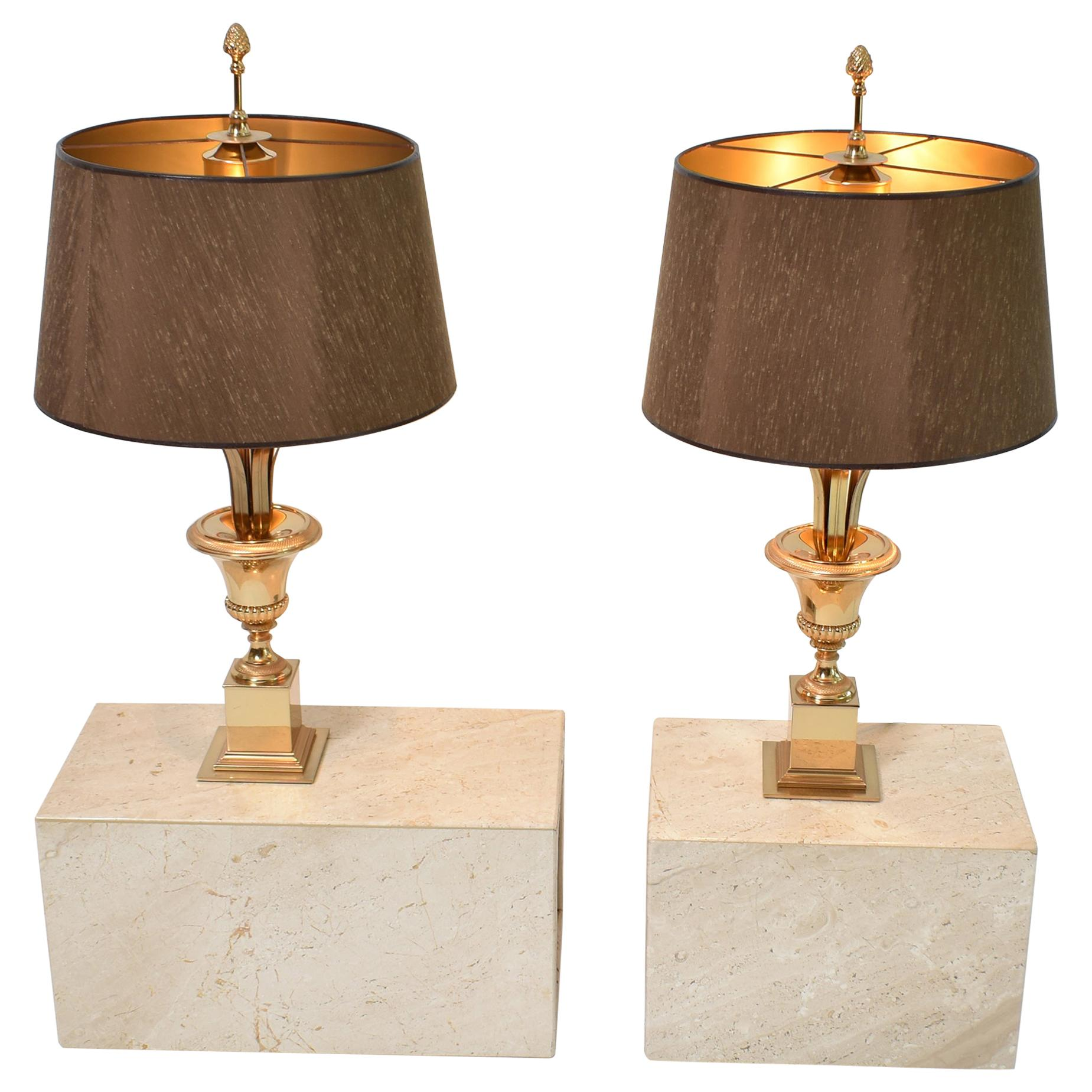 Mid Century Modern Roseaux Table Lamps By Boulanger Belgium 1970 Set Of Two For Sale At 1stdibs