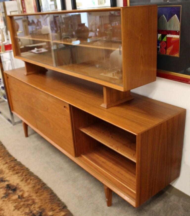 Mid-20th Century Mid-Century Modern Rosengren Hansen Dyrlund Danish Teak Credenza & Hutch, 1960s For Sale