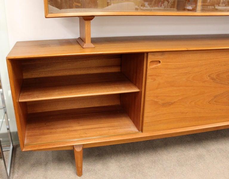 Mid-Century Modern Rosengren Hansen Dyrlund Danish Teak Credenza & Hutch, 1960s For Sale 3