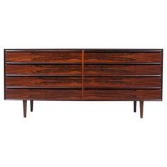 Mid-Century Modern Rosewood 8- Drawer Dresser by Westnofa