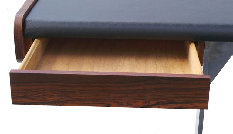 Mid-Century Modern Rosewood and Chrome Desk by Ste. Marie & Laurent For Sale 1