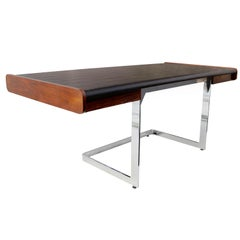 Mid-Century Modern Rosewood and Chrome Desk by Ste. Marie & Laurent