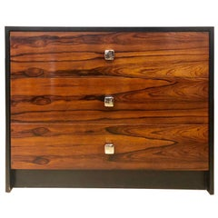 Mid-Century Modern Rosewood and Ebony Commode / Chest or Nightstand Baughman