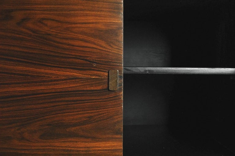 Mid-20th Century Mid-Century Modern Rosewood and Walnut Scandinavian Sideboard, 1960s For Sale
