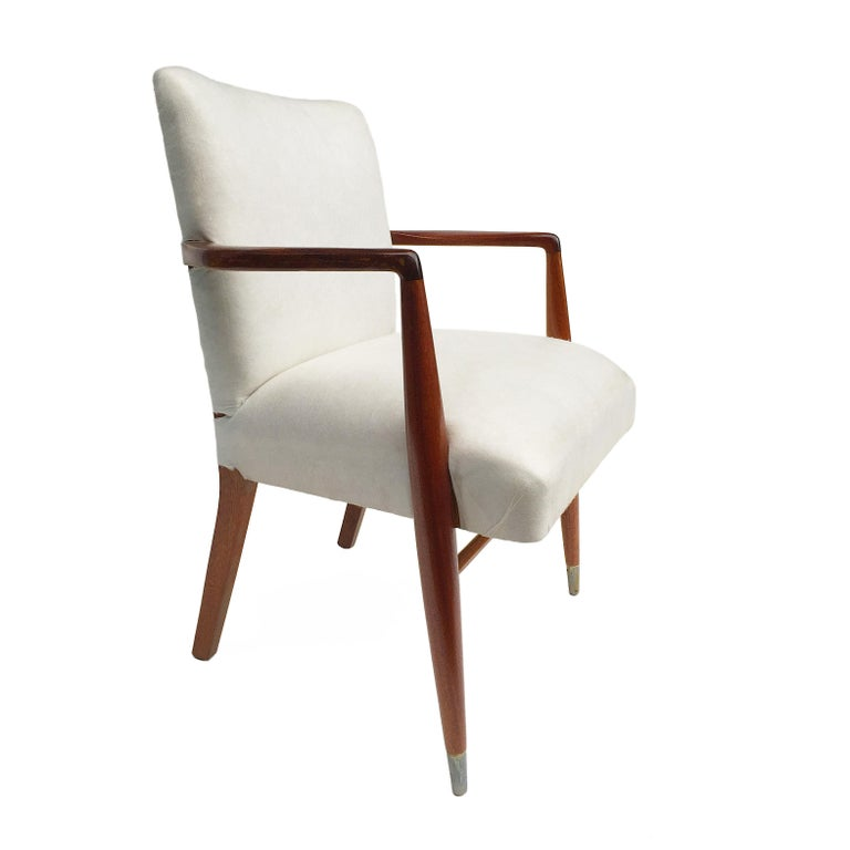 British Mid-Century Modern Rosewood Armchairs, 1950s For Sale