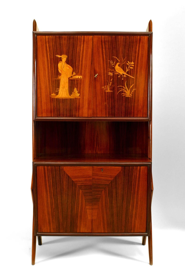 Italian Mid-Century Modern Rosewood Cabinet For Sale