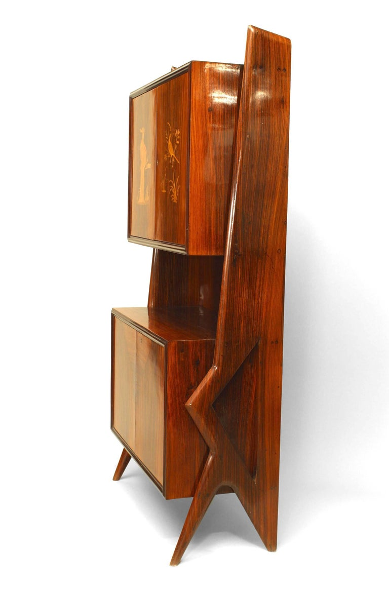 Mid-Century Modern Rosewood Cabinet In Good Condition For Sale In New York, NY