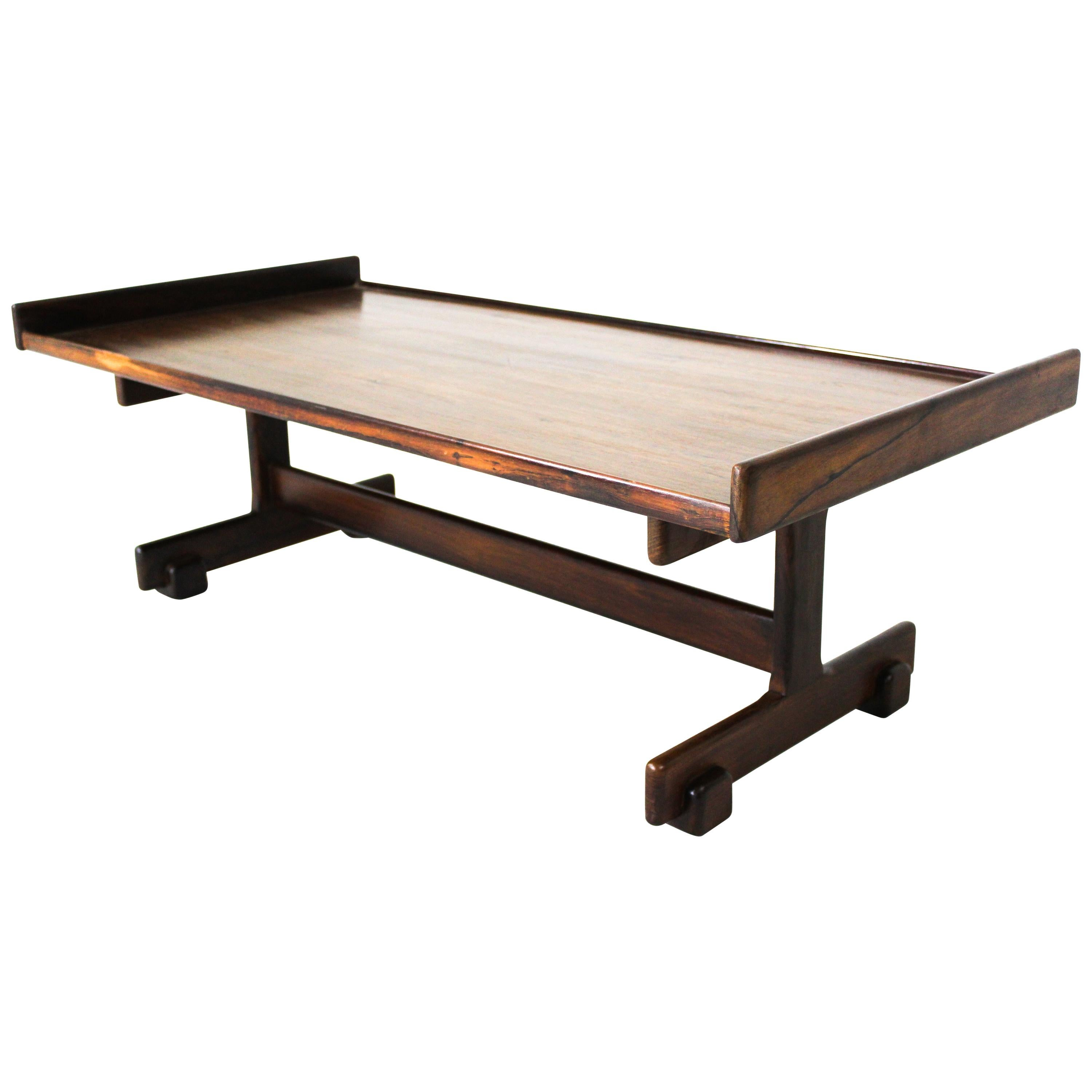 Mid-Century Modern Wood Center Table by Sergio Rodrigues, Brazil, 1960s