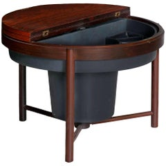 Mid-Century Modern Rosewood Cocktail Bar Accent Table, Relling & Rastad, Norway