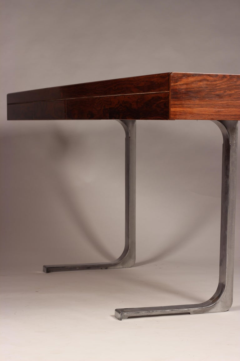 Mid Century Modern Rosewood Console Table or Desk by Robert Heritage For Sale 5