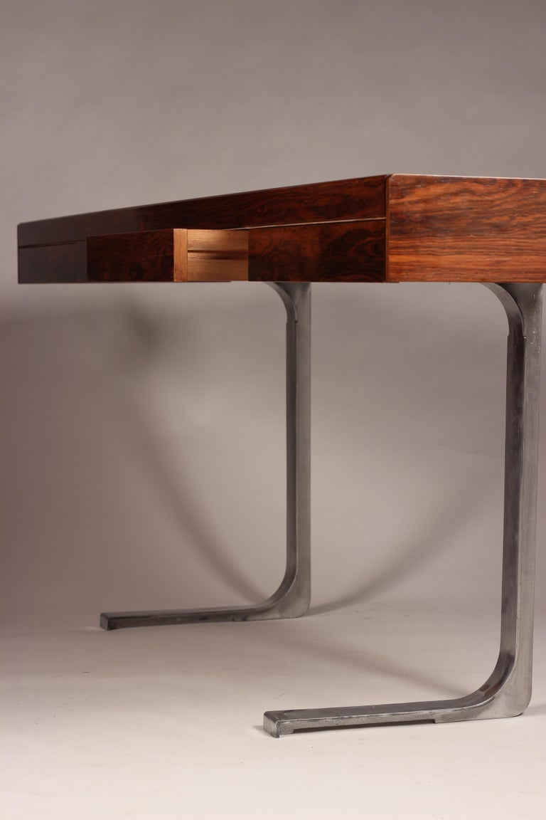 Mid Century Modern Rosewood Console Table or Desk by Robert Heritage For Sale 6