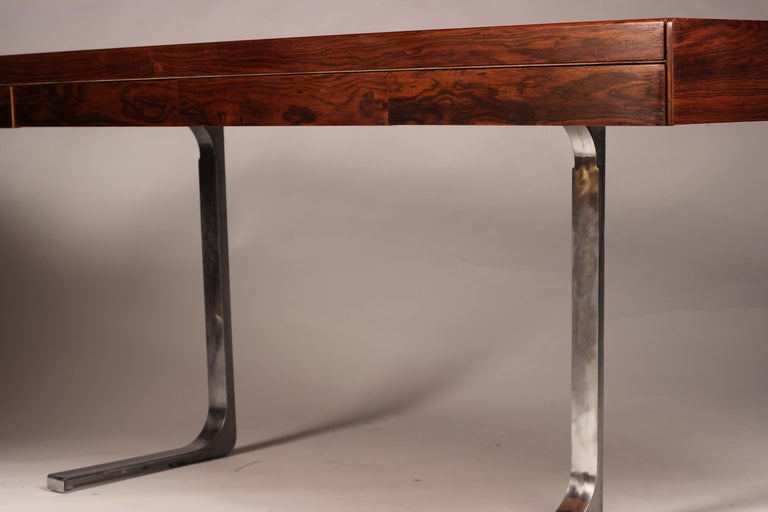 Mid Century Modern Rosewood Console Table or Desk by Robert Heritage For Sale 8