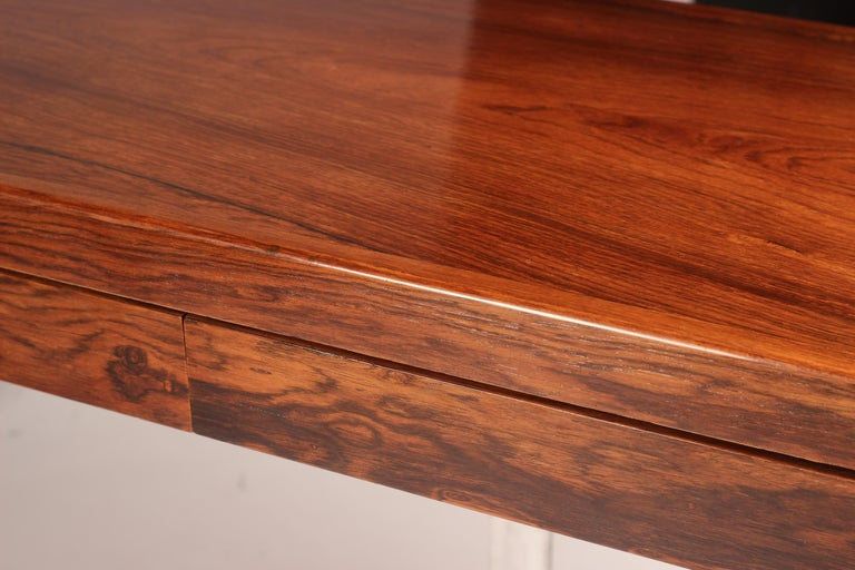 Mid Century Modern Rosewood Console Table or Desk by Robert Heritage For Sale 11