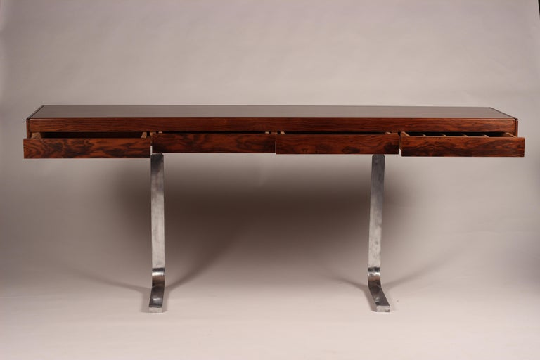 Mid-Century Modern Mid Century Modern Rosewood Console Table or Desk by Robert Heritage For Sale