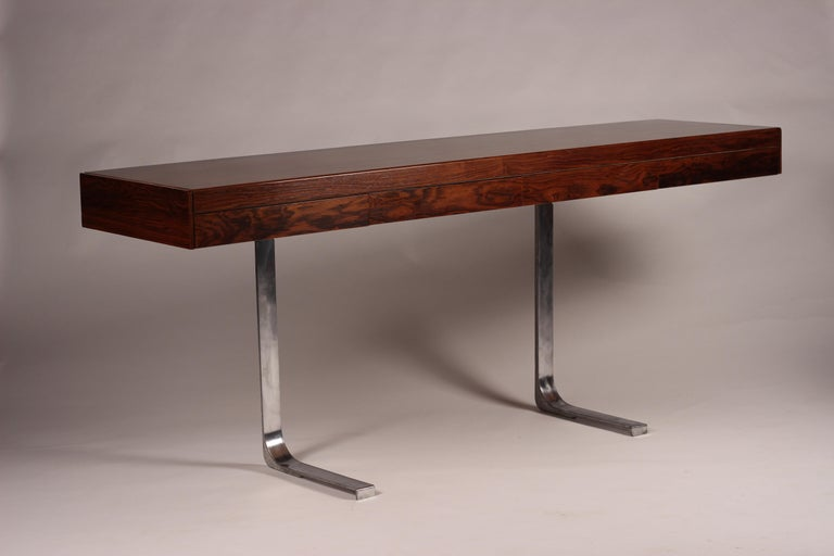 English Mid Century Modern Rosewood Console Table or Desk by Robert Heritage For Sale
