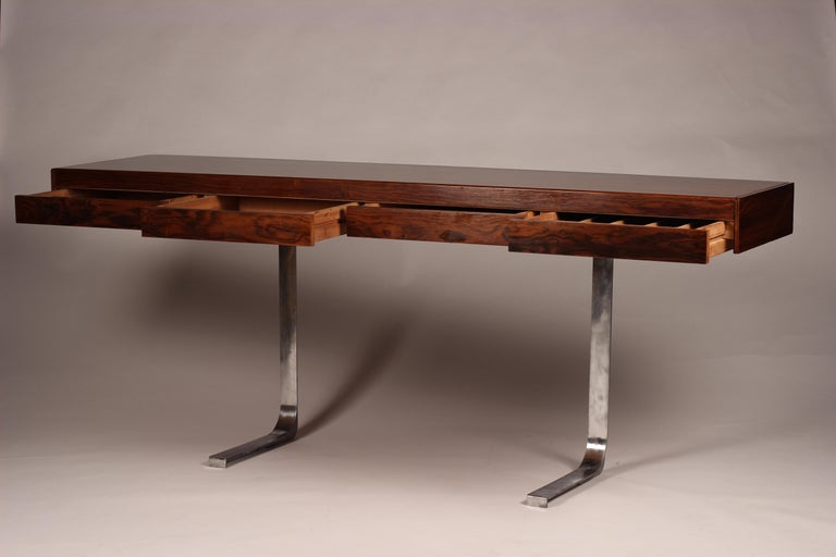 Mid-20th Century Mid Century Modern Rosewood Console Table or Desk by Robert Heritage For Sale