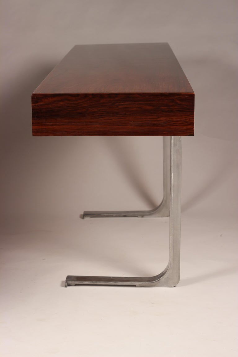Mid Century Modern Rosewood Console Table or Desk by Robert Heritage For Sale 2