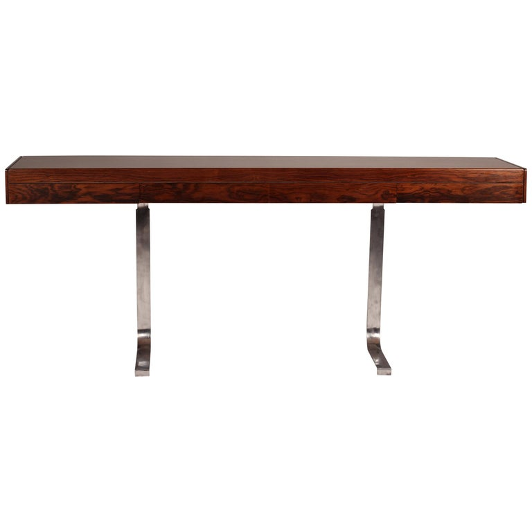 Mid Century Modern Rosewood Console Table or Desk by Robert Heritage For Sale