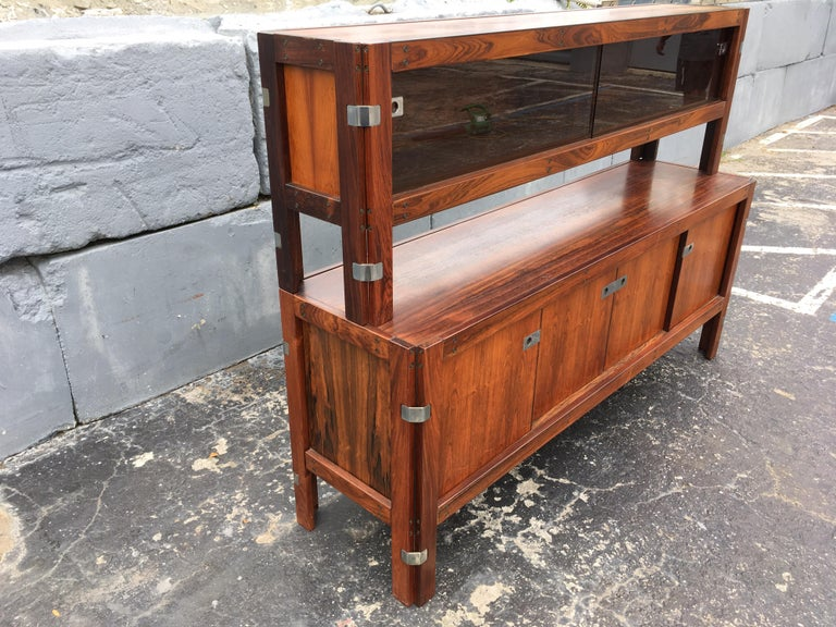 Canadian Mid-Century Modern Rosewood Credenza For Sale