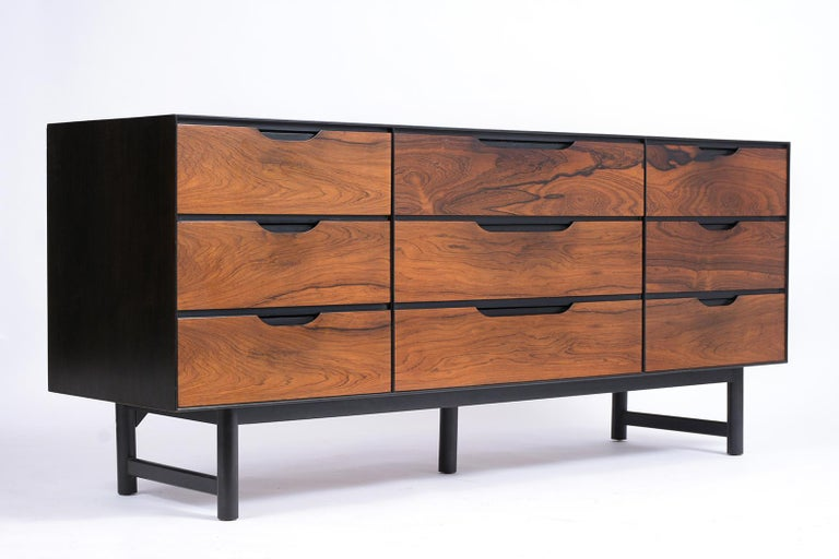 Wood Mid-Century Modern Rosewood Credenza For Sale