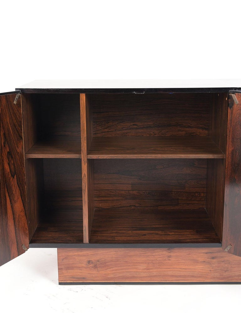 Plywood 1960's Mid-Century Modern Rosewood Credenza For Sale
