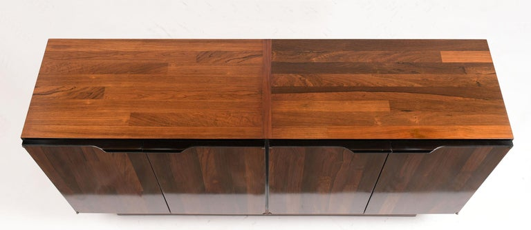 1960's Mid-Century Modern Rosewood Credenza For Sale 1