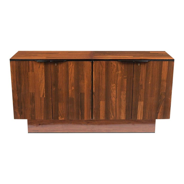 1960's Mid-Century Modern Rosewood Credenza For Sale