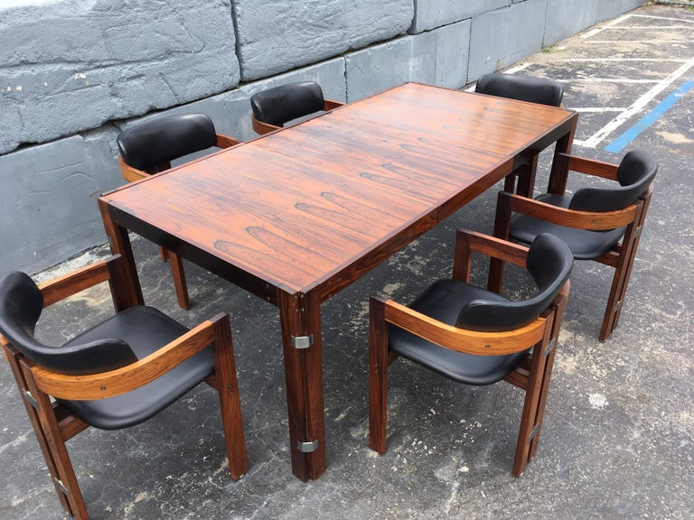 Mid-Century Modern Rosewood Dining Table For Sale 7