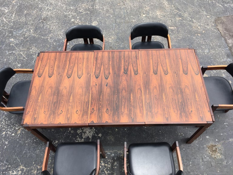 Mid-Century Modern Rosewood Dining Table For Sale 12