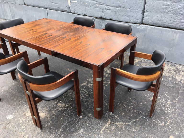 Mid-Century Modern Rosewood Dining Table For Sale 13