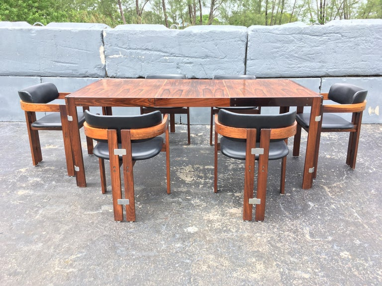 Mid-Century Modern Rosewood Dining Table For Sale 14