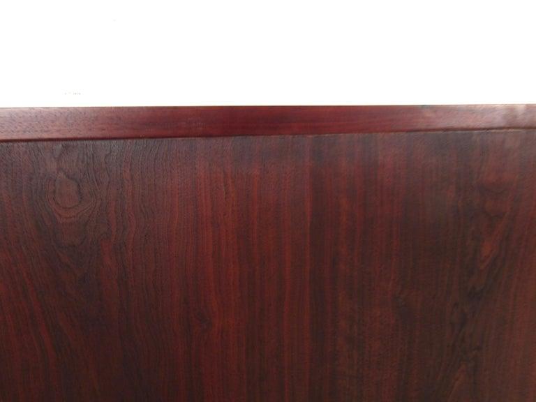 Mid-Century Modern Rosewood Double Sized Headboard For Sale 3